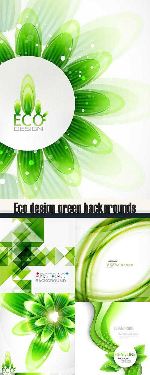 Eco design green backgrounds