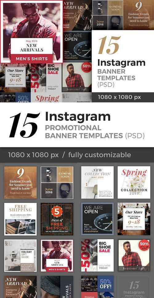 15 Instagram Banner Templates (PSD) – 713774