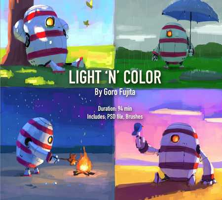 Gumroad – Light 'n' Color Tutorial Pack By Goro Fujita