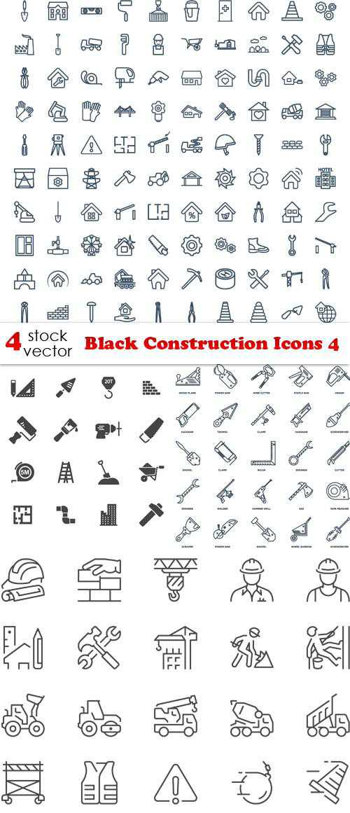 Black Construction Icons 4