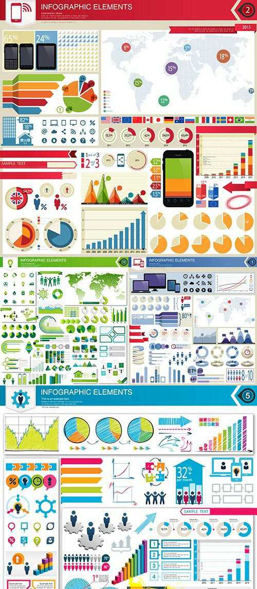 Infographics collection design elements 98