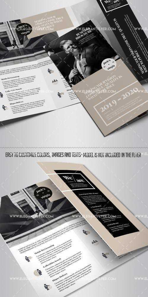 Business V22 2018 Tri-Fold Brochure PSD Template