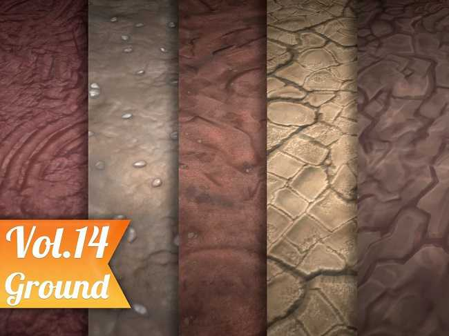 Cgtrader - Stylized Ground Vol 14 - Hand Painted Texture Pack Texture