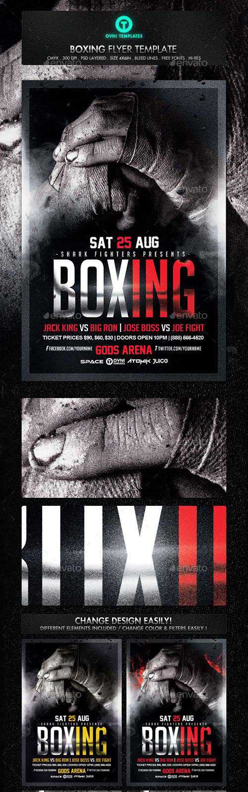 GraphicRiver – Boxing Fight Flyer Template – 16440130