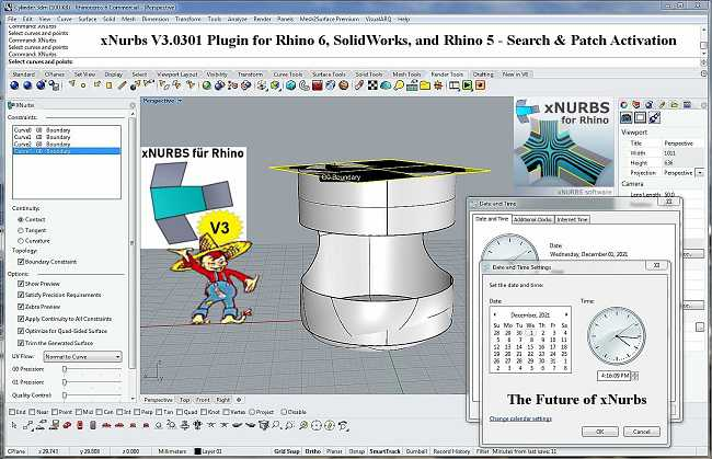 xNurbs V3.0301 Plugin for Rhino and SolidWorks Win
