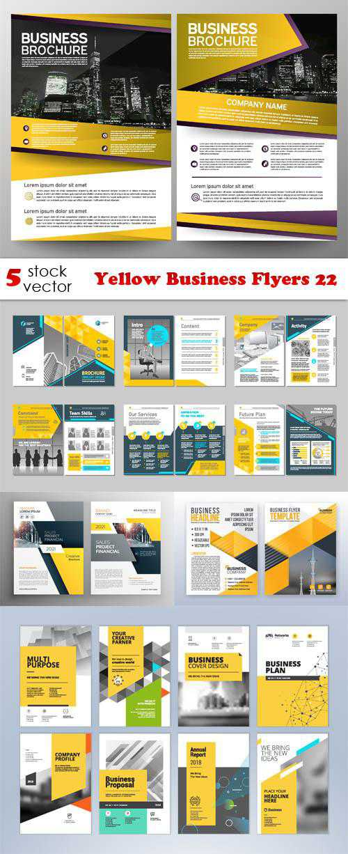 Yellow Business Flyers 22