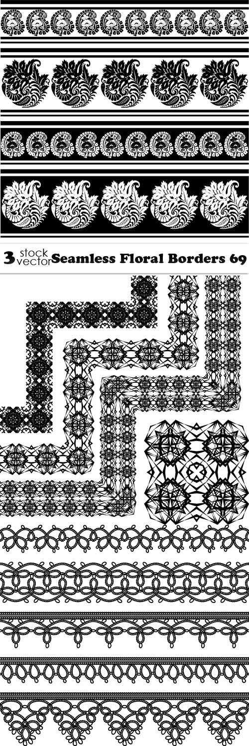 Seamless Floral Borders 69