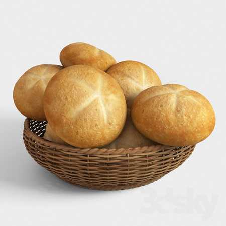 Basket with buns
