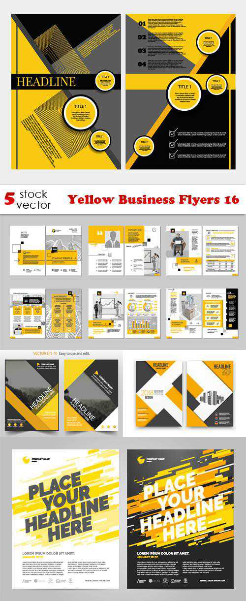 Yellow Business Flyers 16