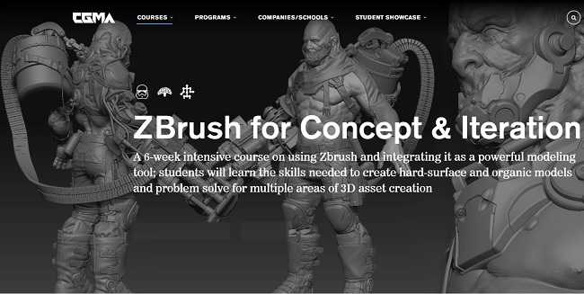 CGMA – ZBrush for Concept & Iteration