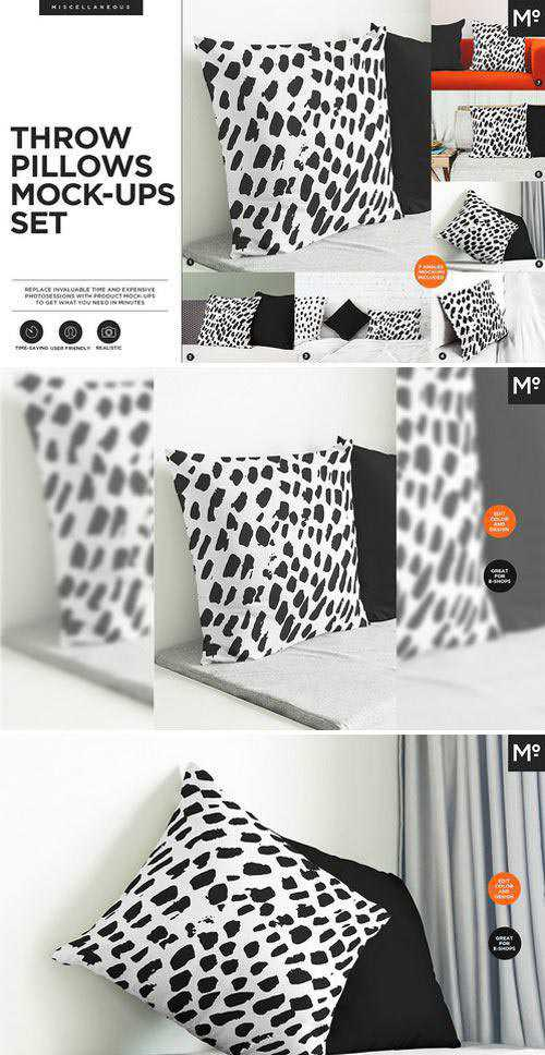CM - Throw Pillows Mock-ups Set 2103023