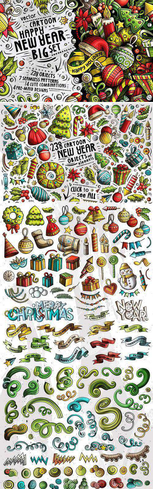 CM – Happy New Year Doodle Big Pack 2070672