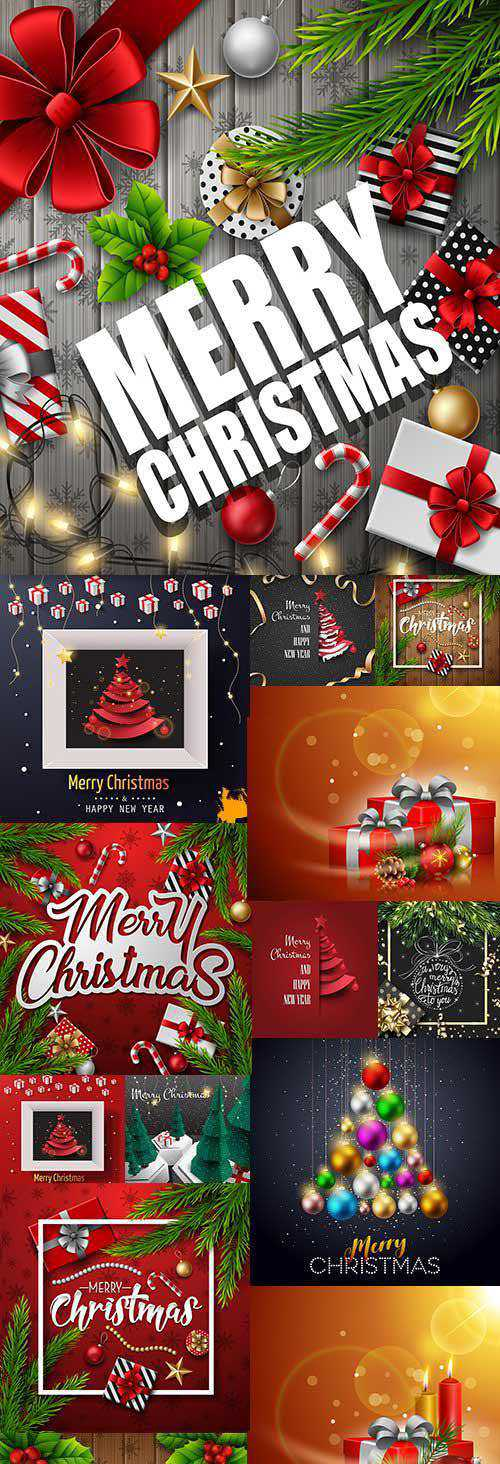 Merry Christmas and festive New Year design illustration 6