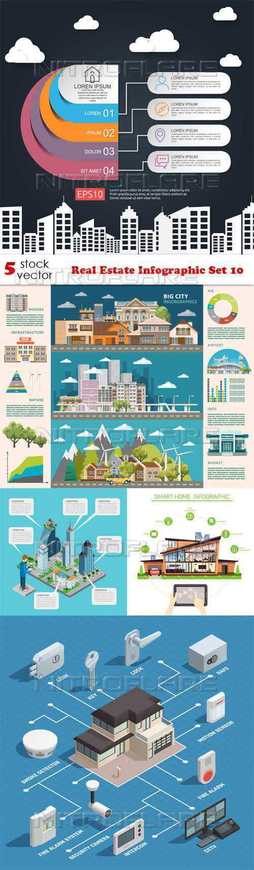 Real Estate Infographic Set 10