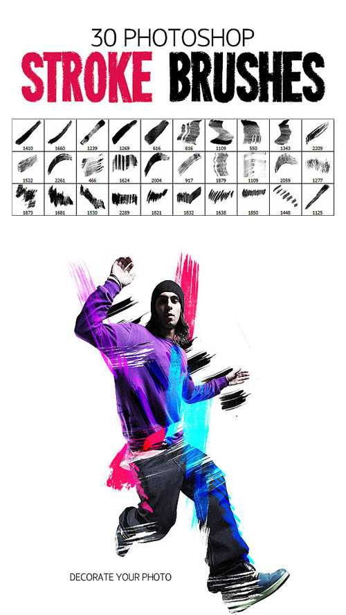 Graphicriver 30 Stroke Brushes 8373092