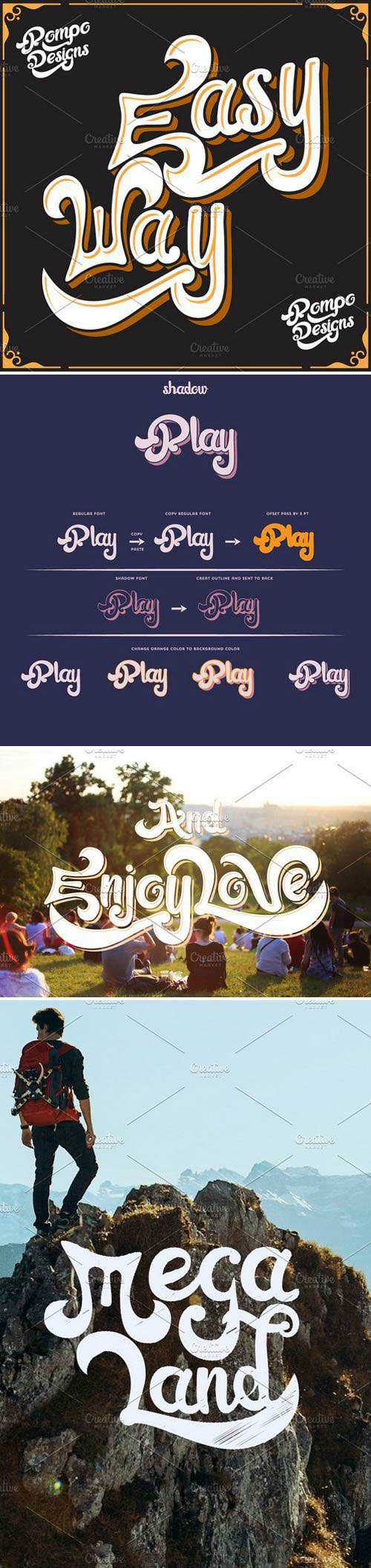 New!((EasyWay)) Font+Extra!