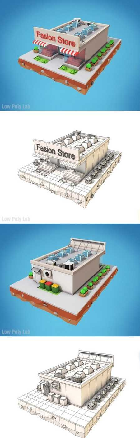 CM – Low Poly Fashion Store Building 1378185