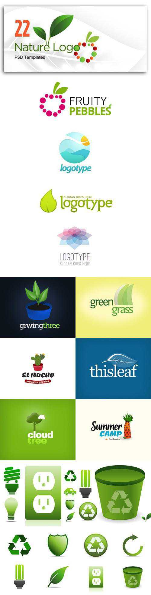 22 Logo Templates Inspired by Nature