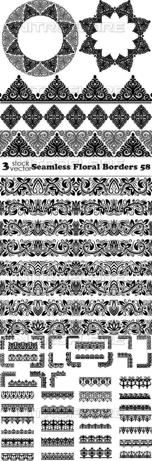 Seamless Floral Borders 58
