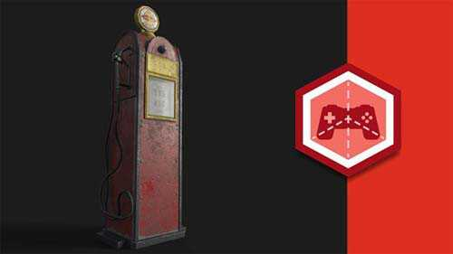 Tutorials Substance Painter: Petrol Pump Game Asset