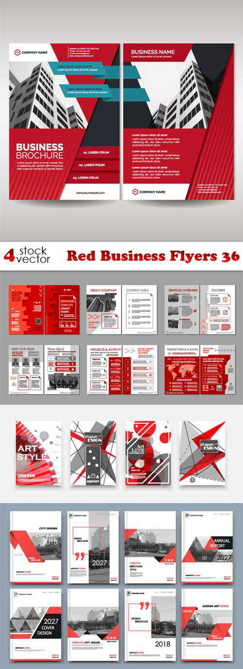 Red Business Flyers 36