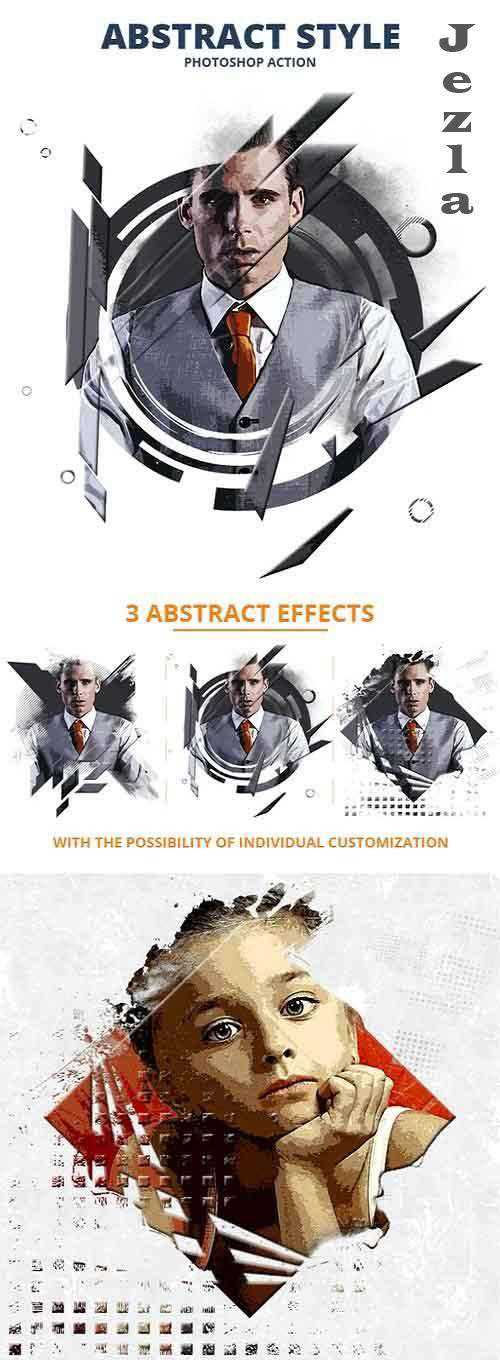 Abstract Style Photoshop Action 26541808