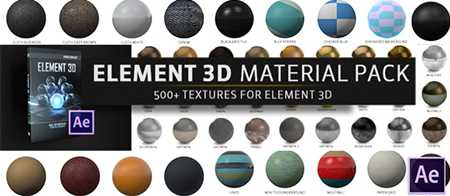 Max The Pixel Lab Material Pack For Element 3D V2