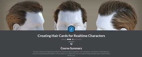 CGCookie – Creating Hair Cards for Realtime Characters