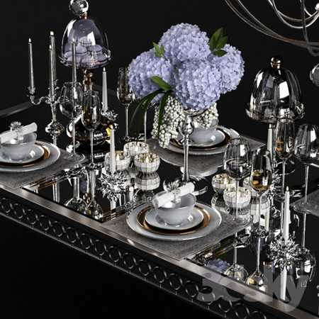 Sophie Mirrored Dining Table set