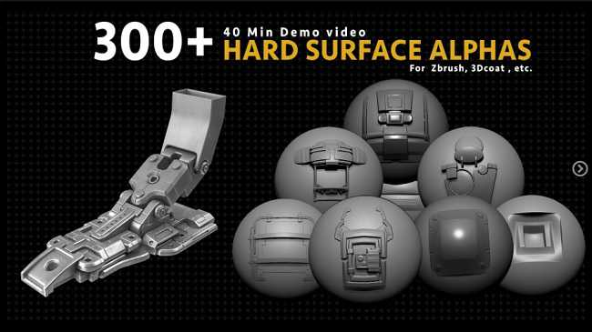 Artstation Marketplace – 300+ Hard Surface Alphas with Demo Video