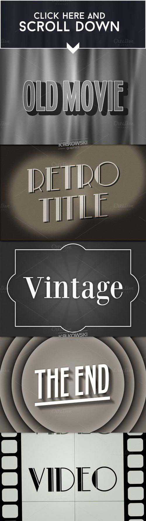 CM – Old Movie Text Effect 696240