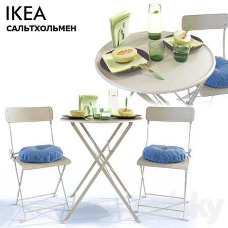 Table and Chair SALTHOLMEN Ikea Saltholmen