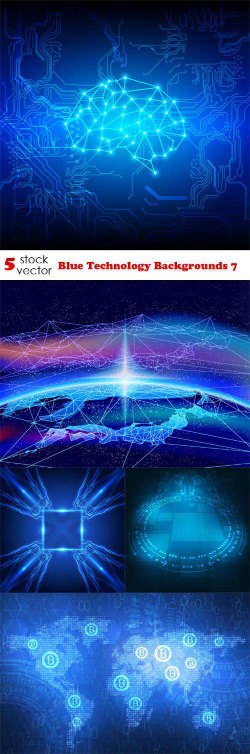 Blue Technology Backgrounds 7