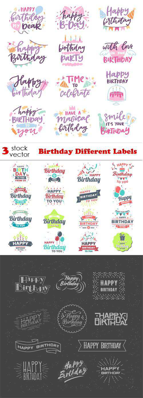 Birthday Different Labels