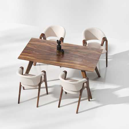 Modern dining table and chair model combination 2