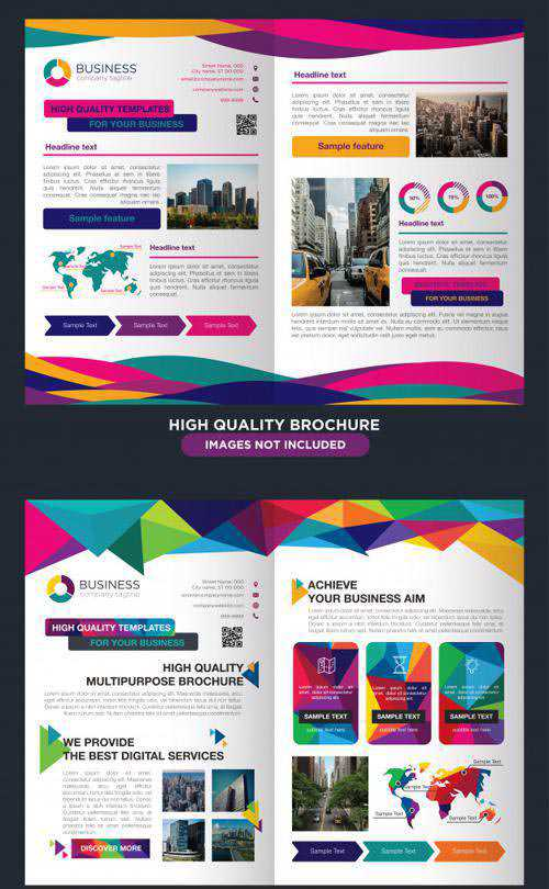 2 Professional Brochures for Multipurpose Business Vector